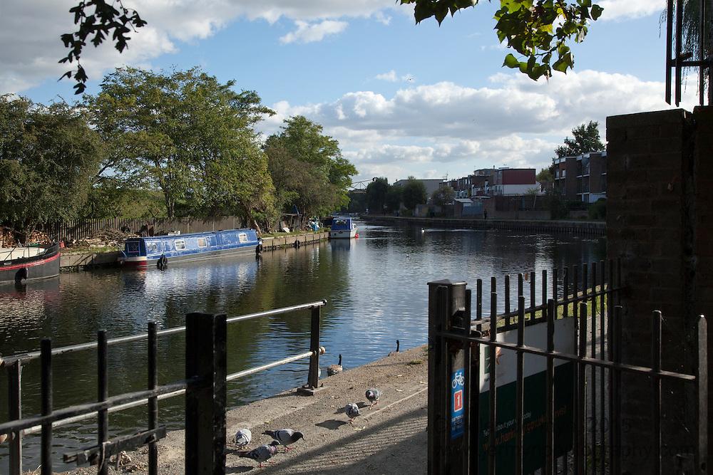 River Lee towpath, Markfield Park, Tottenham
