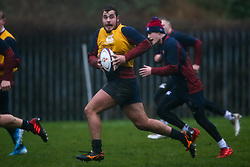 Jack Hughes of England Under 20s in action during training ahead of the Under 20s Six Nations - Mandatory by-line: Robbie Stephenson/JMP - 14/01/2020 - RUGBY - Loughborough University - Loughborough, England - England U20s Training