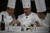 daniel boulud, paul bocuse, fabrice desvignes at the bocuse d'or...January 28, 2009.