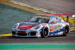 July 27, 2018 - Sao Paulo, Sao Paulo, Brazil - Car #45 in action during the free practice session for the 5th stage of the 2018 Brazilian Porsche GT3 Cup championship, which takes place on Saturday, 28 at Interlagos circuit in Sao Paulo, Brazil. (Credit Image: © Paulo Lopes via ZUMA Wire)