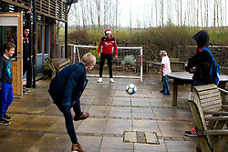 Richard O'Donnell of Bristol City plays football with children during Bristol City's visit to the Children's Hospice South West at Charlton Farm - Mandatory by-line: Robbie Stephenson/JMP - 21/12/2016 - FOOTBALL - Children's Hospice South West - Bristol , England - Bristol City Children's Hospice Visit