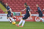 Southend United defender Ben Coker takes free kick during the Sky Bet League 1 match between Sheffield Utd and Southend United at Bramall Lane, Sheffield, England on 14 November 2015. Photo by Ian Lyall.