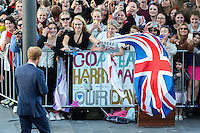 PRINCE HARRY IS GREETED BY MEMBERS OF THE PUBLIC, WELLINGTON