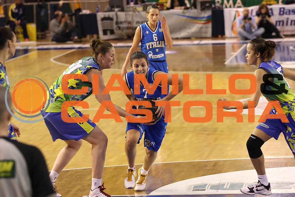 DESCRIZIONE : Parma All Star Game 2011 Donne Torneo Ocme Lega A1 Femminile 2010-11 FIP <br /> GIOCATORE : Valeria Battisodo<br /> SQUADRA : Nazionale Italia Donne Ocme All Stars<br /> EVENTO : All Star Game FIP Lega A1 Femminile 2010-2011<br /> GARA : Ocme All Stars Italia<br /> DATA : 16/02/2011<br /> CATEGORIA : penetrazione<br /> SPORT : Pallacanestro<br /> AUTORE : Agenzia Ciamillo-Castoria/C.De Massis<br /> Galleria : Lega Basket Femminile 2010-2011<br /> Fotonotizia : Parma All Star Game 2011 Donne Torneo Ocme Lega A1 Femminile 2010-11 FIP <br /> Predefinita :