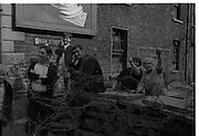 View of Belfast Barricades - Falls Rd,bombay st, nationalists, homes burned, by British loyalists, omar street, Clonard, 30/08/1969