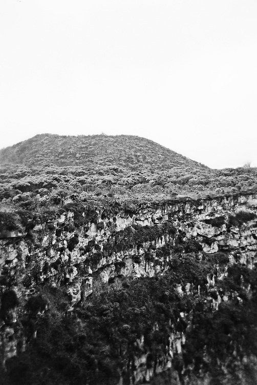 Crater and mountain, Ecuador.<br />