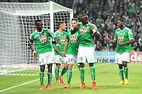 Joie Max Alain GRADEL / Florentin POGBA - 23.05.2015 - Saint Etienne / Guingamp - 38e journee Ligue 1<br />Photo : Jean Paul Thomas / Icon Sport