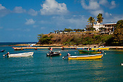 Small boats dot the port of Isabel Segunda on the Caribbean Island of Vieques, Puerto Rico (photo by Charleston SC photographer Richard Ellis)