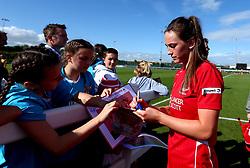 Chloe Arthur of Bristol City Women signs autographs for fans - Mandatory by-line: Robbie Stephenson/JMP - 03/06/2017 - FOOTBALL - Stoke Gifford Stadium - Bristol, England - Bristol City Women v Arsenal Ladies - FA Women's Super League Spring Series