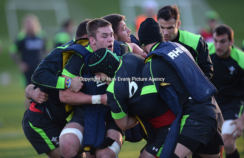 18.11.14 - Wales Rugby Training -<br /> Dan Lydiate during training.<br /> &copy; Huw Evans Picture Agency