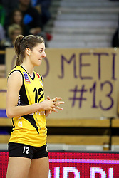 Anne Buijs of VakifBank Istanbul during the volleyball match between Calcit Ljubljana and VakifBank Istanbul at 2016 CEV Volleyball Champions League, Women, League Round in Pool B, 1st Leg, on November 26, 2016, in Hala Tivoli, Ljubljana, Slovenia.  (Photo by Matic Klansek Velej / Sportida)