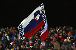 Slovenian flag at Speedway Grand Prix Krsko 2008, on April 26, 2008, in Krsko, Slovenia. (Photo by Vid Ponikvar / Sportal Images)../ Sportida)