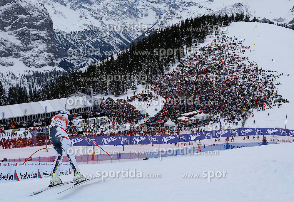 18.01.2014, Lauberhorn, Wengen, SUI, FIS Weltcup Ski Alpin, Wengen, Abfahrt, Herren, im Bild Matthias Mayer (AUT) // in action during the downhill of the Wengen FIS Ski Alpine World Cup at the Lauberhorn in Wengen, Switzerland on 2014/01/18. EXPA Pictures &copy; 2014, PhotoCredit: EXPA/ Freshfocus/ Christian Pfander<br /> <br /> *****ATTENTION - for AUT, SLO, CRO, SRB, BIH, MAZ only*****