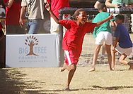 VILLIERSDORP, SOUTH AFRICA - Goal celebration during the Adidas Big Tree Foundation Schools Soccer Tournament Final held during stage two of the Absa Cape Epic Mountain Bike Stage Race held between Gordon's Bay and Villiersdorp on the 23 March 2009 in the Western Cape, South Africa..Photo by Ron Gaunt /SPORTZPICS