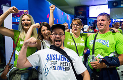 Supporters of Slovenia and Finland ahead to the basketball match between National Teams of Finland and Slovenia at Day 3 of the FIBA EuroBasket 2017 at Hartwall Arena in Helsinki, Finland on September 2, 2017. Photo by Vid Ponikvar / Sportida
