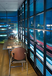 Dining Room Modern loft condo apartment in Washington DC Intimate dining area overlooking city traffic