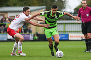 Forest Green Rovers Omar Bugiel(11) runs forward during the EFL Sky Bet League 2 match between Forest Green Rovers and Newport County at the New Lawn, Forest Green, United Kingdom on 14 October 2017. Photo by Shane Healey.