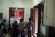 Africa. Tanzania. Zanzibar. Stone Town..Manchester united football supporters at computer games parlour. .CD0011
