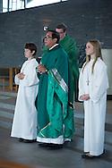 July 12 2015, Jackson USA // Fr. Sheldon Amasa celebrates mass at St Aloysius. Fr Amasa celebrates 25 years in the priesthood // Michael Glenn for The Monitor