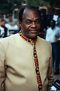 Marion Barry, Mayor of Washington, during an event November 11, 1995 in Washington, DC. Barry, was convicted of drug charges and served 6 months in federal prison before staging a comeback and was elected to his fourth term as mayor of the city.