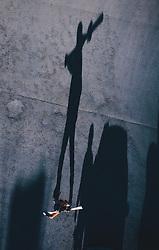 15.03.2020, Kaprun, AUT, Coronavirus in Österreich, im Bild Schatten von Touristen die das Skigebiet nach der Schliessung verlassen // Shadows of tourists leaving the ski resort after closing.. The Austrian government is pursuing aggressive measures in an effort to slow the ongoing spread of the coronavirus, Kaprun, Austria on 2020/03/15. EXPA Pictures © 2020, PhotoCredit: EXPA/ JFK