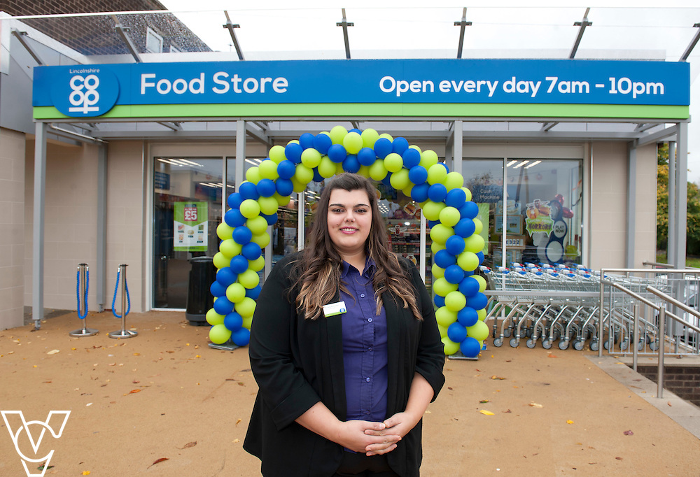 Pictured is Lincolnshire Co-operative Washingborough Food Store manager Rachelle Richardson<br /> <br /> Official re-opening of the refurbished Washingborough Food Store and precinct, which includes the Co-op Pharmacy.<br /> <br /> Date: October 30, 2015<br /> Picture: Chris Vaughan/Chris Vaughan Photography