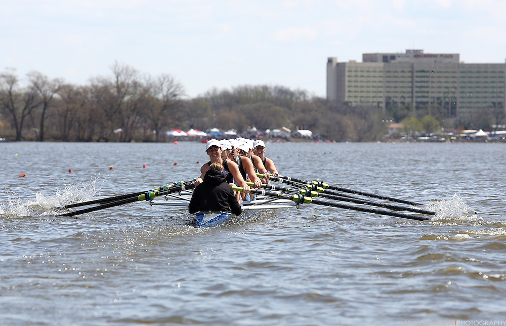 April 13, 2013; Cherry Hill, NJ, USA; Old Dominion Monarchs rowing in the Knecht Cup on the Cooper River in Cherry Hill, NJ. Mandatory Credit: Brian Schneider-www.ebrianschneider.com