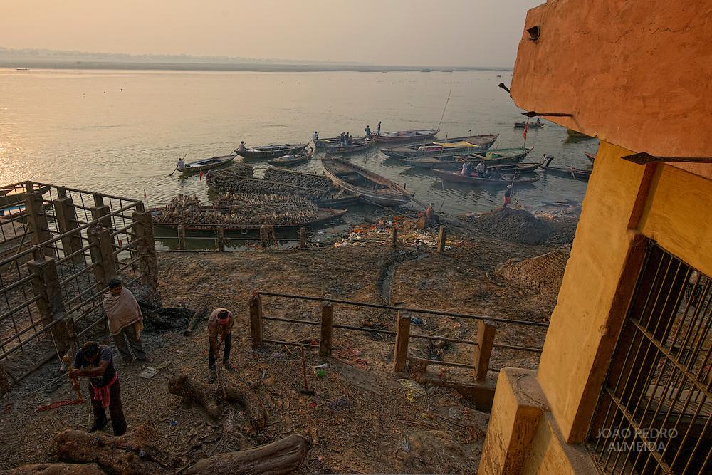 Manikarnika, the main burning ghat of Varanasi