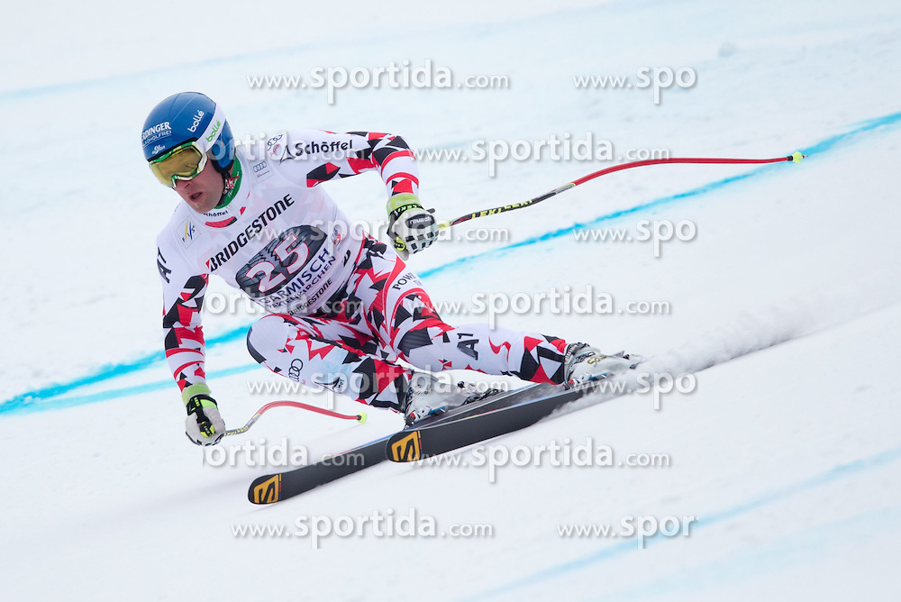 27.02.2015, Kandahar, Garmisch Partenkirchen, GER, FIS Weltcup Ski Alpin, Abfahrt, Herren, 2. Training, im Bild Romed Baumann (AUT) // Romed Baumann of Austria in action during the 2nd trainings run for the men's Downhill of the FIS Ski Alpine World Cup at the Kandahar course, Garmisch Partenkirchen, Germany on 2015/27/02. EXPA Pictures © 2015, PhotoCredit: EXPA/ Johann Groder