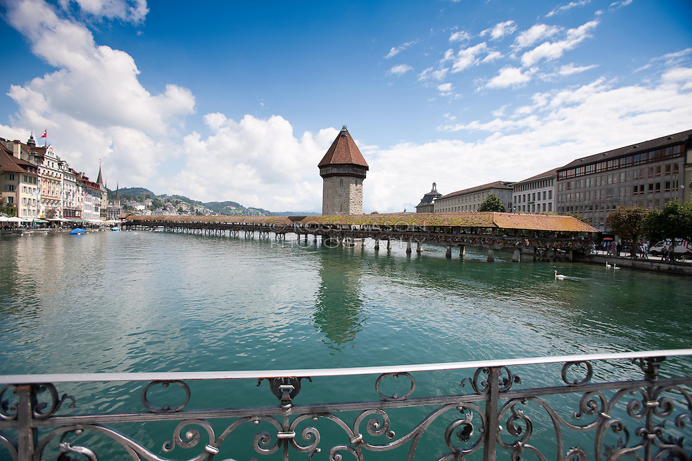 The beautiful city of Lucerne, Switzerland, August 2011.