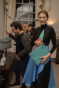 PHILIP BUENO DE MESQUITA; ROKSANDA ILINCICStefania Pramma launched her handbag brand PRAMMA  at the Kensington residence of her twin sister, art collector Valeria Napoleone.. London.  29 April 2015