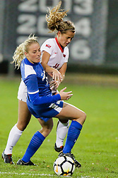NORMAL, IL - October 17:  Logan Ziegler during an NCAA Missouri Valley Conference (MVC)  women's soccer match between the Indiana State Sycamores and the Illinois State Redbirds October 17 2018 on Adelaide Street Field in Normal IL (Photo by Alan Look)