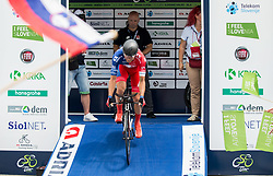 Jure Golcer of Adria Mobil at start during 5th Time Trial Stage of 25th Tour de Slovenie 2018 cycling race between Trebnje and Novo mesto (25,5 km), on June 17, 2018 in  Slovenia. Photo by Vid Ponikvar / Sportida