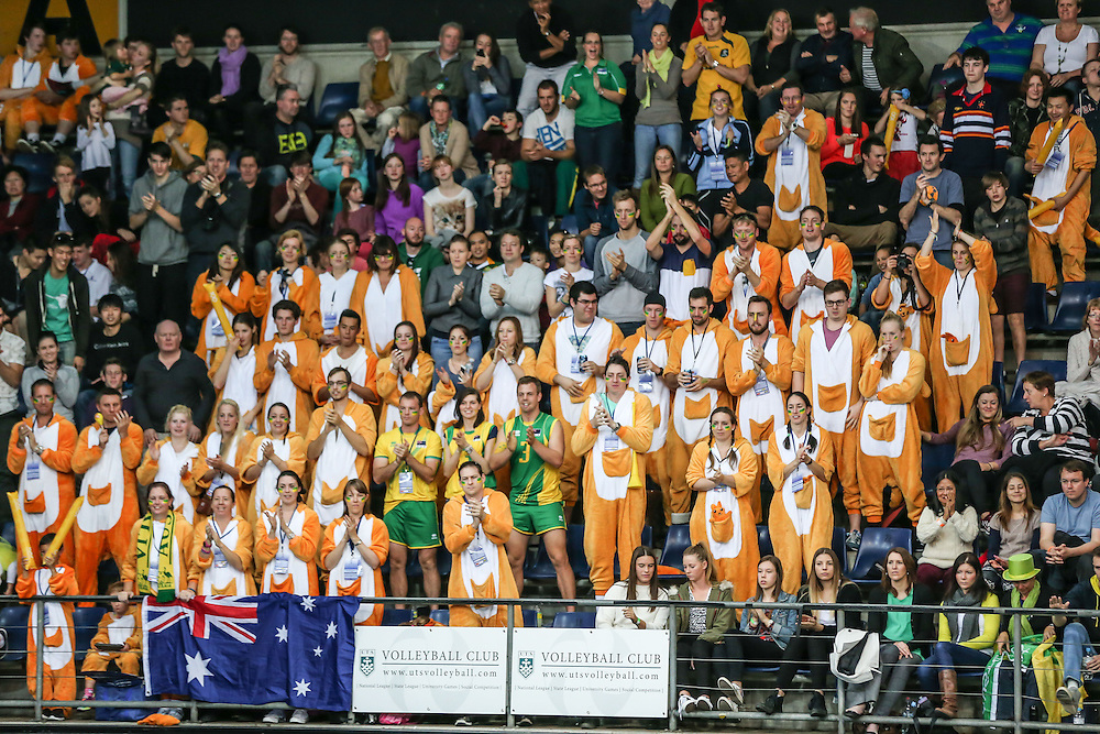 A smaller but still vocal crowd cheered the Volleyroos on