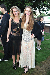Left to right, sisters LARA BOGLIONE and RUBY BOGLIONE daughters of Francesco & Gael Boglione at the annual Serpentine Gallery Summer party this year sponsored by Jaguar held at the Serpentine Gallery, Kensington Gardens, London on 8th July 2010.  2010 marks the 40th anniversary of the Serpentine Gallery and the 10th Pavilion.