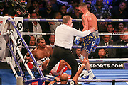 Tony Bellew puts David Haye on the canvas floor at the O2 Arena, London, United Kingdom on 5 May 2018. Picture by Phil Duncan.
