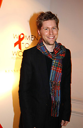 A party hosted by Mario Testino, Bianca Jagger and Kenneth Cole in collaboration with UNFPA and Marie Stopes International to celebrate the publication of Women to Woman: Positively Speaking - a book to raise awareness of women living with HIV/Aids, held at The Orangery, Kensington Palace, London on 2nd December 2004.<br />Picture shows:-CHRISTOPHER BAILEY Design Director of Burberry.<br /><br />NON EXCLUSIVE - WORLD RIGHTS