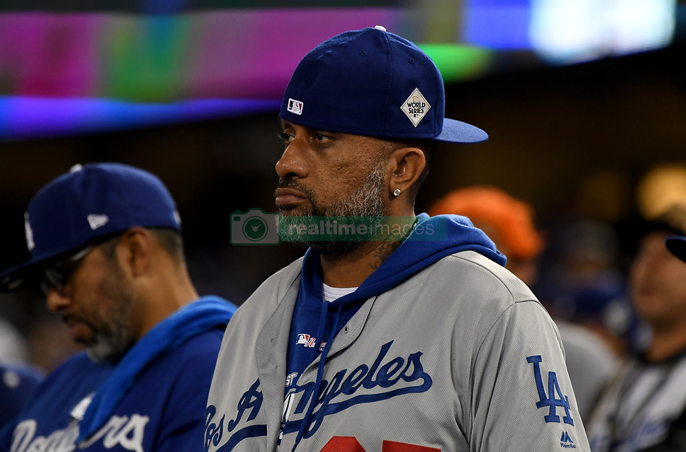 November 1, 2017 - Los Angeles, CA, USA - A Los Angeles Dodgers fan looks on in the 8th inning of game seven of a World Series baseball game at Dodger Stadium on Wednesday Nov. 1, 2017 in Los Angeles. (Credit Image: © Keith Birmingham/Los Angeles Daily News via ZUMA Wire)