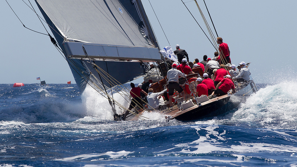 SPAIN, Palma. 19th June 2013. Superyacht Cup. J Class. Race One. Rainbow.