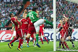 10.09.2011, Weser Stadion, Bremen, GER, 1.FBL, Werder Bremen vs Hamburger SV, im Bild.Claudio Pizarro (Bremen #24) mit dem 1:0 welches wg Abseits nicht gegeben wurde .// during the Match GER, 1.FBL, Werder Bremen vs Hamburger SV on 2011/09/10,  Weser Stadion, Bremen, Germany..EXPA Pictures © 2011, PhotoCredit: EXPA/ nph/  Kokenge       ****** out of GER / CRO  / BEL ******