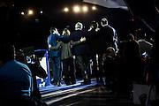"Maurizio Lupi, Beatrice Lorenzin, Gaetano Quagliarello, Nunzia Degirolamo, Angelino Alfano during the first national Convetion of the ""Nuovo Centro Destra"" party. Roma, 7 december 2013. Christian Mantuano / OneShot"