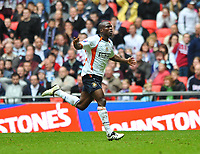 Claude Gnakpa of Luton Town scores the winning goal<br /> Luton Town vs Scunthorpe United<br /> Johnstone's Paint Trophy, Wembley Stadium, UK<br /> 05/04/2009. Credit Colorsport/Dan Rowley