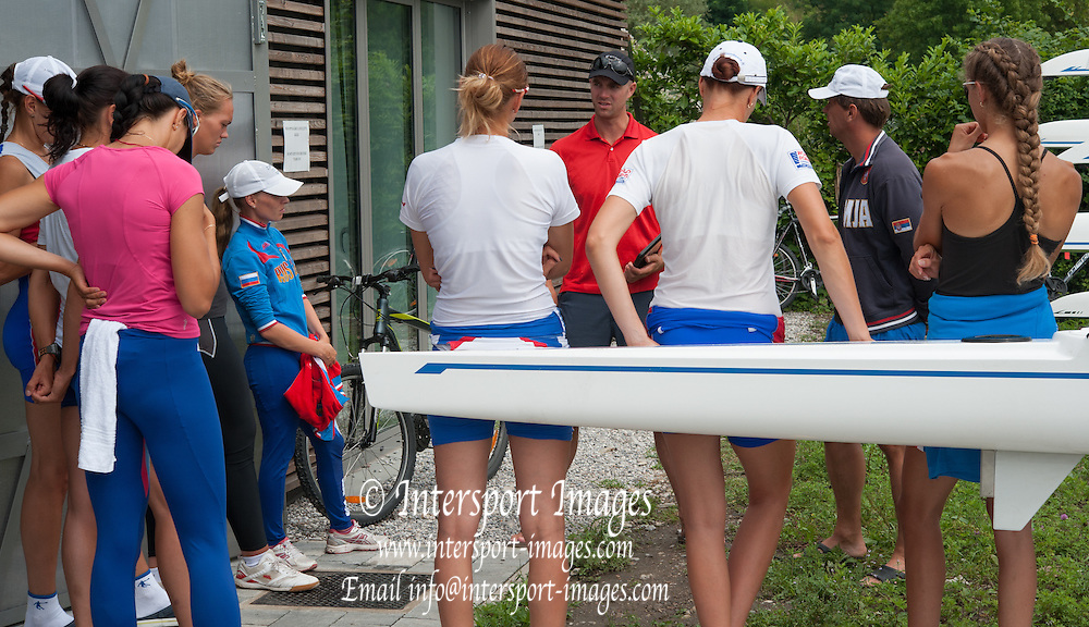 Erba, ITALY  Russian Rowing Team Training at their Italian Base in Erba at  Lake Pusiano.  10:10:09  Tuesday  22/07/2014  [Mandatory Credit; Peter Spurrier/Intersport-images]