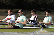 Putney. GREAT BRITAIN,   left, Kieran WEST and Tom JAMES, during the Cambridge University  vs German National Eight race,  raced over the Boat Race Course, on the River Thames, London, on Sat.  03.03.2007,  [Photo Peter Spurrier/Intersport Images]   [Mandatory Credit, Peter Spurier/ Intersport Images]. , Rowing Course: River Thames, Championship course, Putney to Mortlake 4.25 Miles, , Varsity Boat Race.