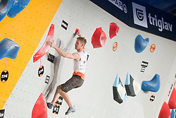 Anze Peharc (SLO) at Fnal of Climbing event - Triglav the Rock Ljubljana 2018, on May 19, 2018 in Congress Square, Ljubljana, Slovenia. Photo by Urban Urbanc / Sportida