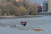 Putney, Great Britain, 17th March 2019, Pre Boat Race Fixture, Oxford University Boat Club vs Oxford Brookes, Championship Course, River Thames,   England, [Mandatory Credit; Peter Spurrier/Intersport-images],<br /> <br /> OUBC.,<br /> Stroke. Augustin Wambersie, 7. Charlie Pearson, 6. Ben Landis, 5. Tobias Schroder, 4. Benedict Aldous, 3. Patrick Sullivan 2. Jamie Kirkwood*<br /> Bow. Achim Harzheim Cox. Anna Carbery, * Jamie was a substitute for President Felix Drinkall.<br /> <br /> Oxford Brookes,<br /> Stroke. Morgan Bolding, 7. Henry Swarbrick, 6. Oli Wilkes, 5. Rory Gibbs, 4. Sam Nunn, 3. Michael Glover, 2. Matt Rowe, Bow. Quentin Antognelli<br /> Cox. Harry Brightmore.