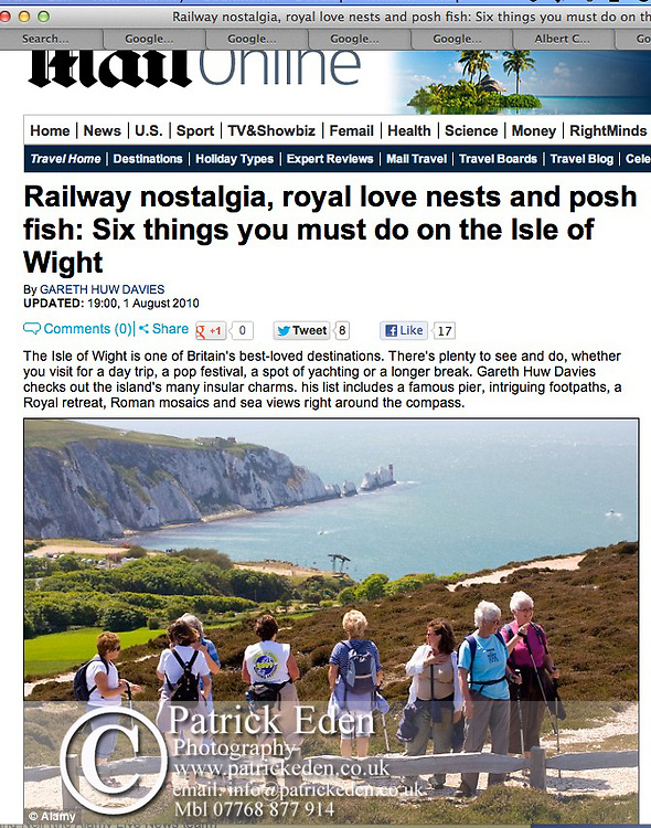 Isle of Wight Walking Festival, Mail Online, Daily Mail,