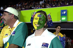 19-09-2000 AUS: Olympic Games Volleybal Nederland - Australie, Sydney<br /> Nederland wint vrij eenvoudig van Australie met 3-0 / Australie support publiek Aussies