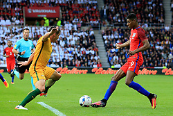 Marcus Rashford of England attacks - Mandatory by-line: Matt McNulty/JMP - 27/05/2016 - FOOTBALL - Stadium of Light - Sunderland, United Kingdom - England v Australia - International Friendly