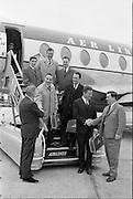 Departure of Army Athletic Team and Sailing Group for Brussels, 27th, april, 1961,